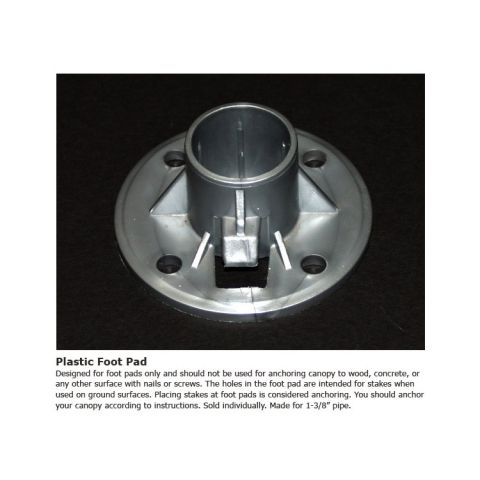 """King Canopy Plastic Foot Pad for 1-3/8"""" Pipe"""
