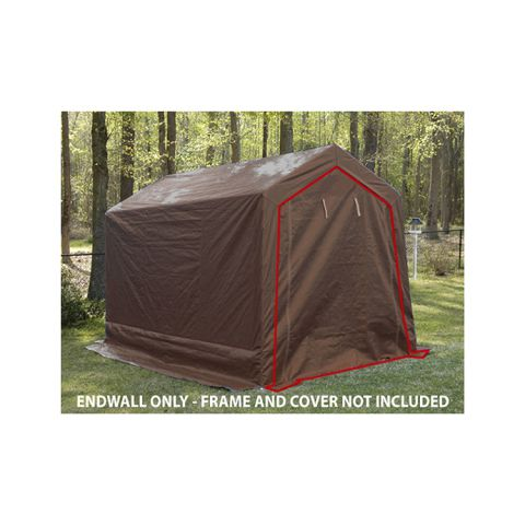 King Canopy Front Wall w/Zipper for 9' x 14' Small Storage Shed
