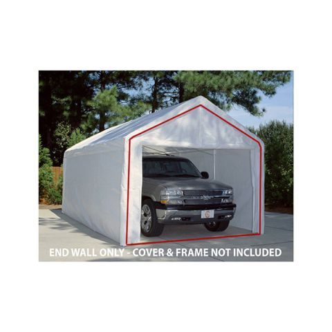 King Canopy End Wall w/ Zipper and Flap for 10' Wide Model