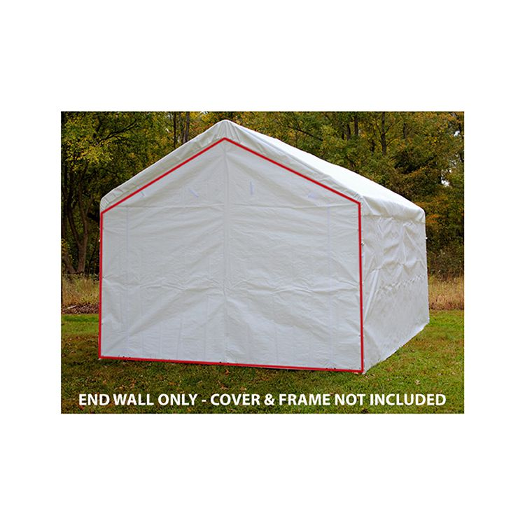King Canopy End Wall w/ Zipper for 10' Wide Model - White