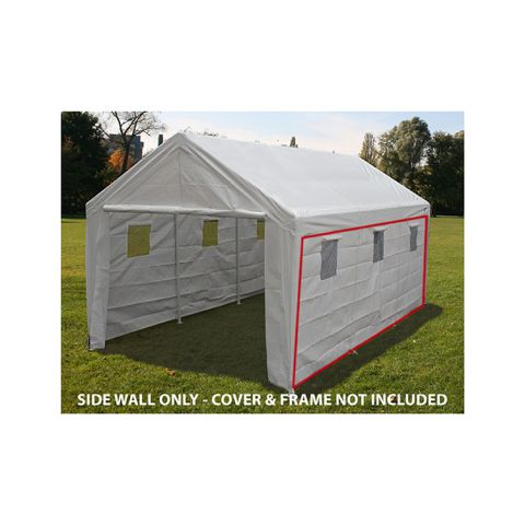 King Canopy Side Wall w/ Windows - No Flaps - for 20' Model
