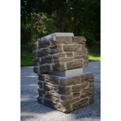 TCM Ledgestone Stack Pillar