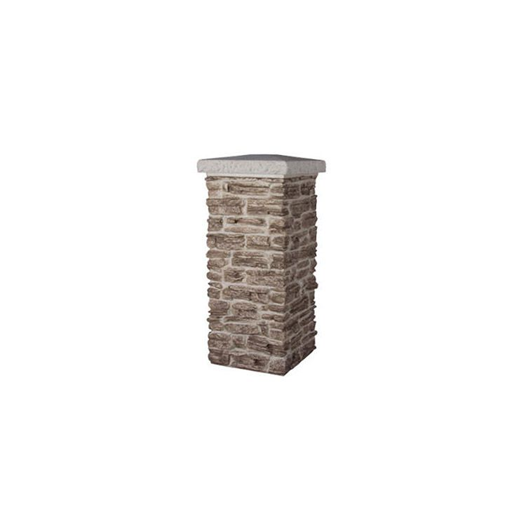 "TCM Flat Cap for 21"" Pillar - Simulated Concrete"
