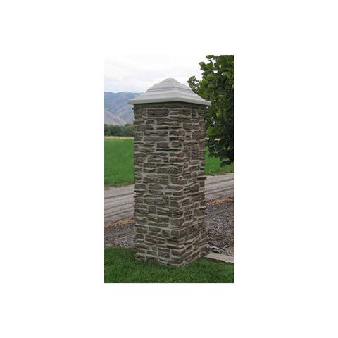 "TCM Pyramid Cap for 21"" Pillar - Simulated Concrete"