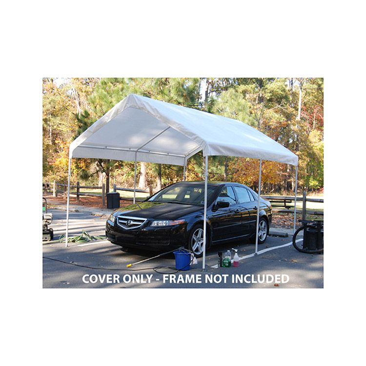 King Canopy Replacement Tarp Cover w/ Drawstrings for 10' x 13' Model - White - 10 lbs.