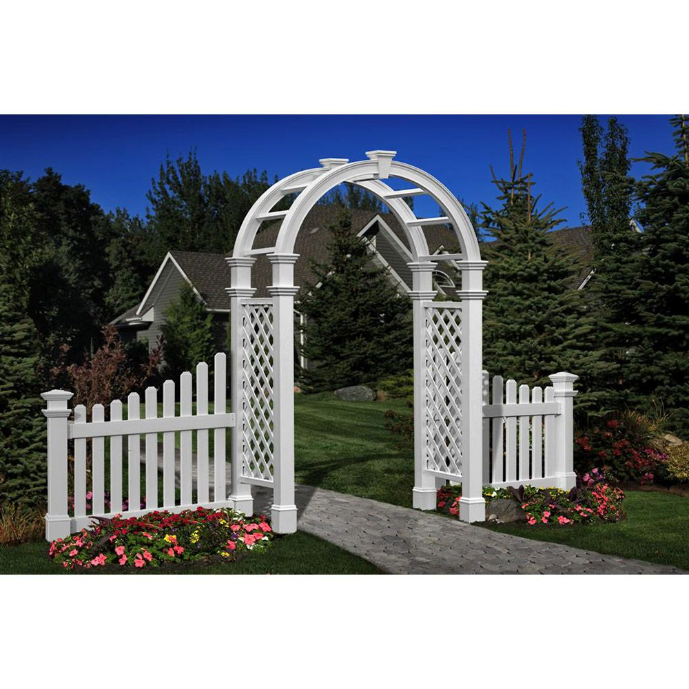 Electric Gate Kits >> New England Arbors Nantucket Legacy Arbor | Hoover Fence Co.