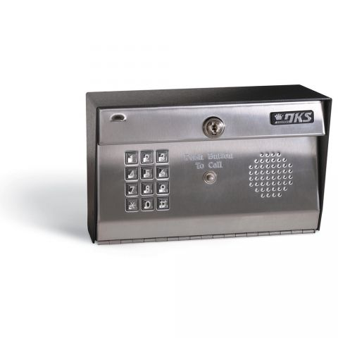 DoorKing Telephone Intercom - stainless face, surface-mount