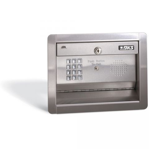 DoorKing Telephone Intercom - stainless face, flush-mount