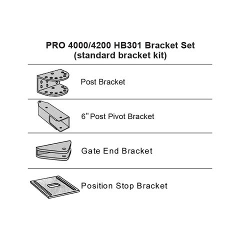 GTO Bracket Set - Black - Post, Pivot, Gate, Stop (3000XL(S)-4000XL)