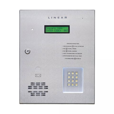 Linear AE1000PLUS Commercial Telephone Entry System with Access Control