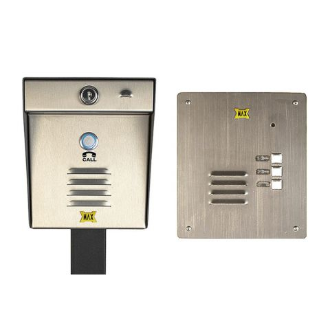 Maximum Controls AeroMax 200-100F Wireless Intercom with 100F Indoor Flush-Mount Station