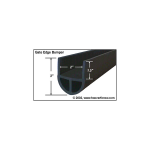Miller Edge Gate Edge Bumper Extrusion (ME-GB-P)
