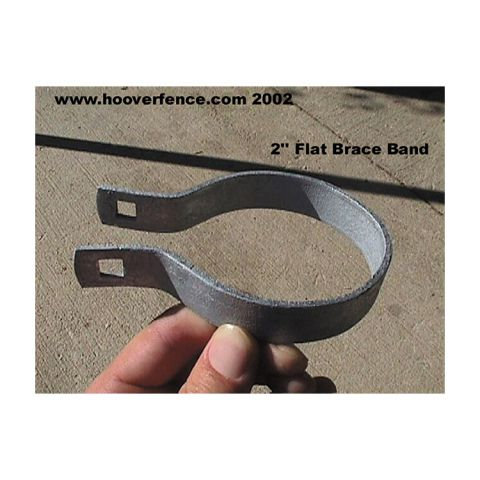 Flat Brace Bands - Galvanized