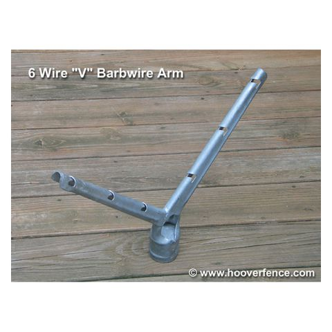 Chain Link Barb Wire Arms - 6-Wire