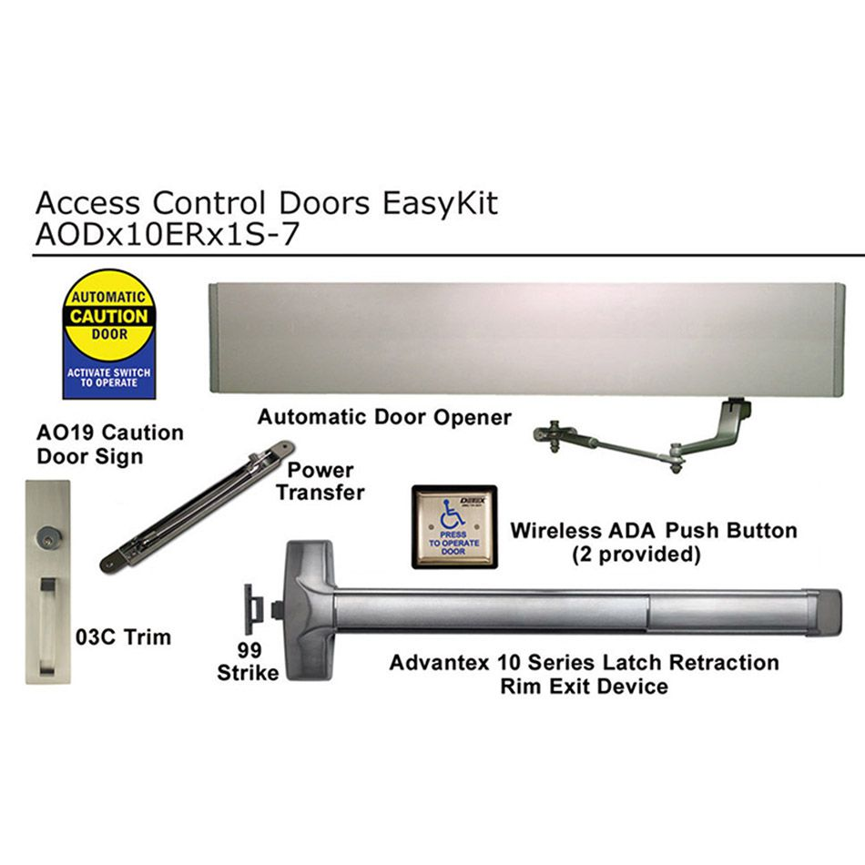 Detex Automatically Operated Easykit For Doors Hoover Fence Co Electric Latch Retraction Wiring Diagram Prevnext