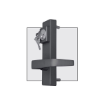 DAC Industries Outside Lever Handles for Detex Bar - Classroom Function (D-6100-P)