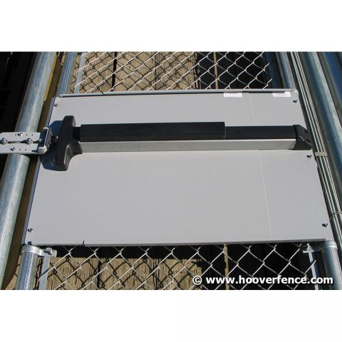 "DAC Industries 12"" High Adjustable Panic Bar Plate for ALL Panic Bars, Drilled for Lock Box"