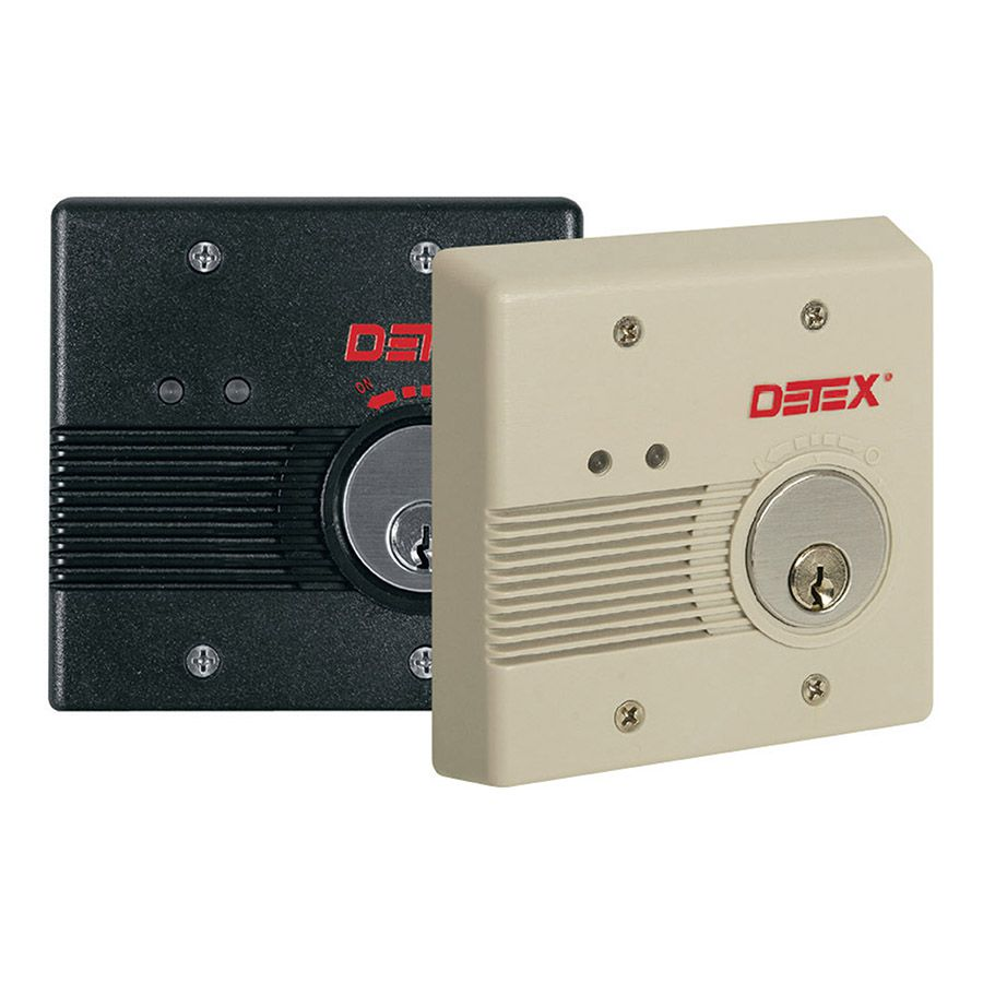 Detex Flush Mount Battery or AC/DC Powered Exit Alarm EAX-2500F