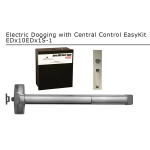 Detex Advantex Electrified Dogging EasyKit with Powersupply for Single Doors (EDx10EDx1S-1)