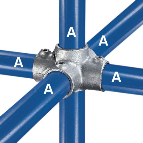 Kee Klamp Type 40 Steel Pipe Fittings - Four Socket Crosses