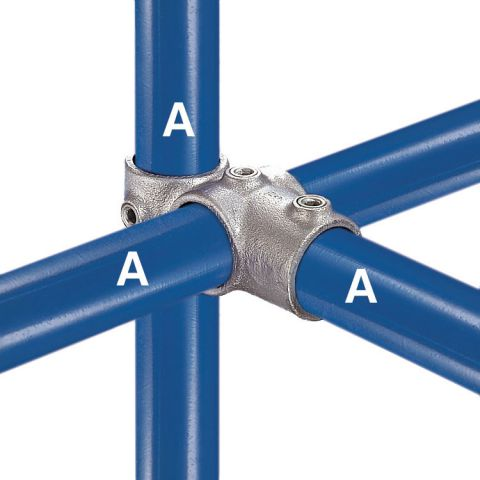 Kee Klamp Type 46 Steel Pipe Fittings - Combo Socket Tee and Crossovers