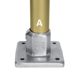 Kee Lite Type L150 - Heavy Duty 4 Hole Square Flange - 1-1/2