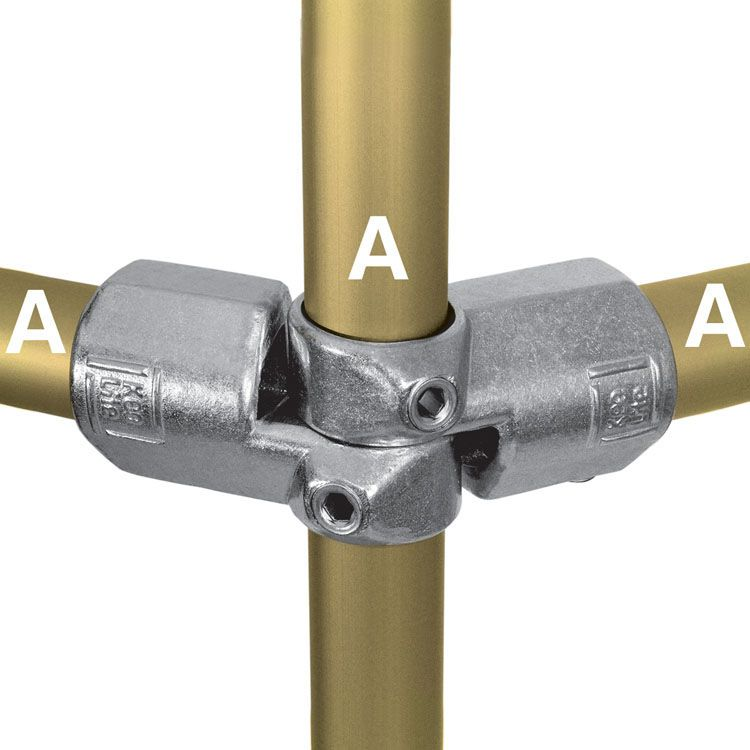 Kee Lite Type L19 Aluminum Pipe Fittings - Adjustable Side Outlet Tees
