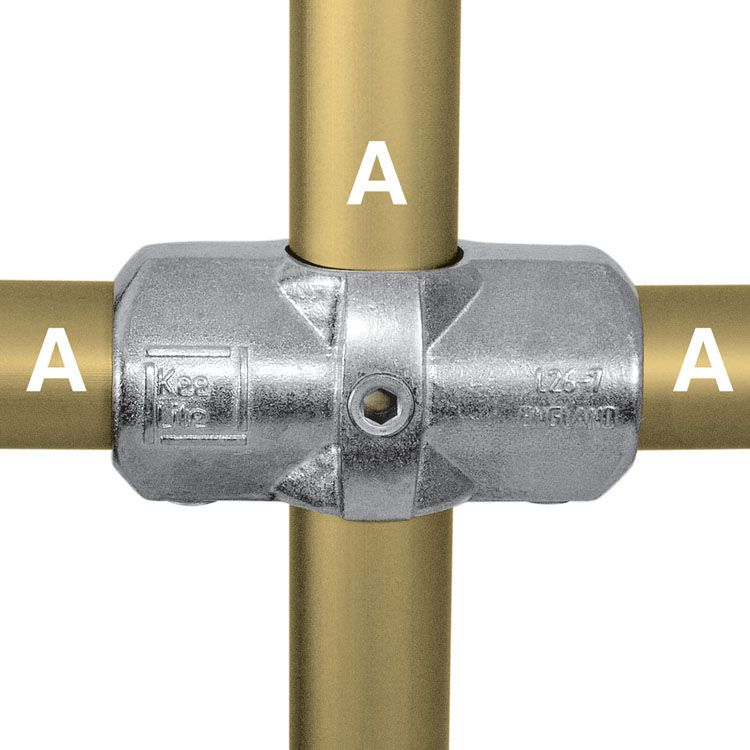 Kee Lite Type L26 Aluminum Pipe Fittings - Two Socket Crosses