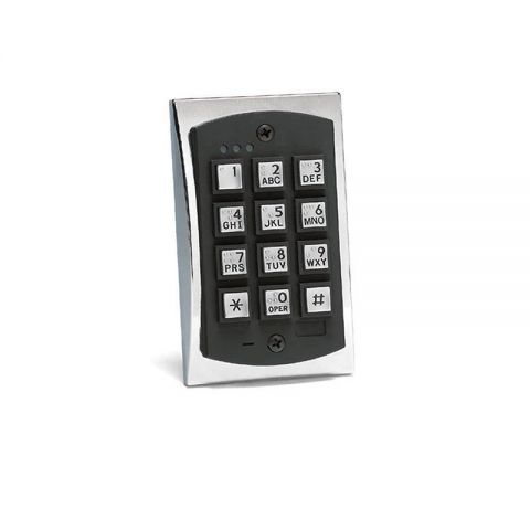 Linear 2000eM (0-294022) 2000 Series Flush Mount Durable Metal Access Control Keypad