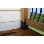 OZCO Building Products 4x4 Post Base Single Rail Saddle - Laredo Sunset (OWT-56631)