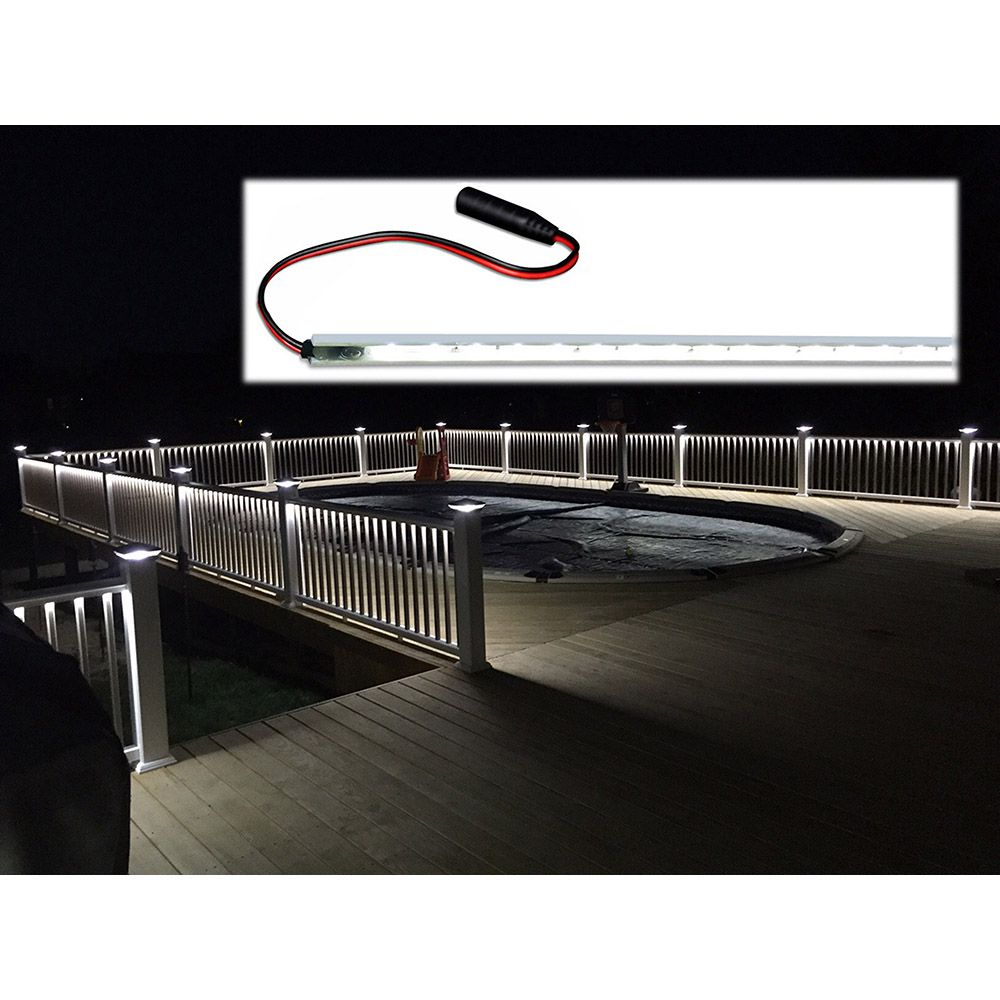 Low Voltage Led Under Rail Strip Light W O Channel