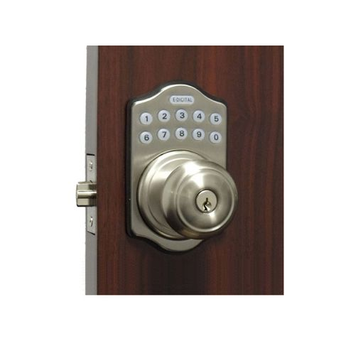 Lockey USA Electronic Keyless Spring Latch Knob Lock (Remote Ready) E-930R