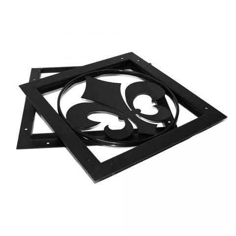 OZCO Building Products Gate Accent Fleur-De-Lis