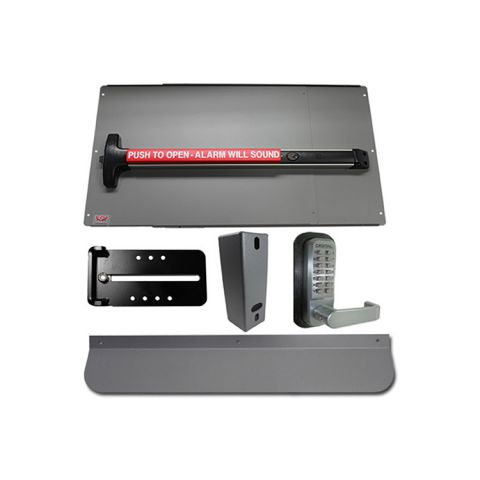 Lockey USA PSDX Alarm Security Panic Bar Kit for Gates