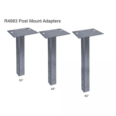 GTO Post Mount Adapter Mounting Plate for GPX-SL25 Gate Operator