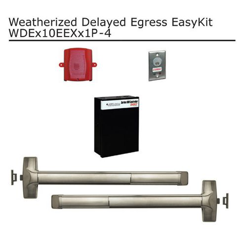 Detex Weatherized Delayed Egress EasyKit for Pair of Doors