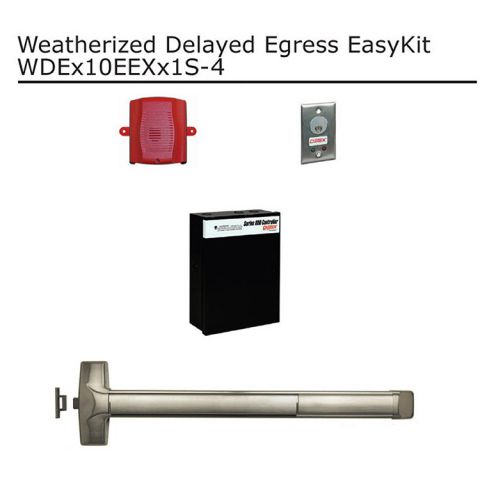 Detex Weatherized Delayed Egress EasyKit for Doors