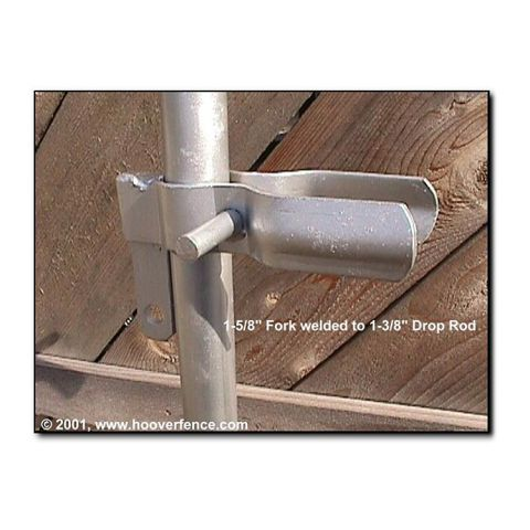 "Drop Rod Latch For Double Chain Link Gates (1-5/8"" or 2"" fork)"