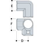 Kee Lite Type L20 Aluminum Pipe Fittings - Side Outlet Elbows (KL-TYPE-L20)