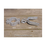 Chain Link Fence Gate Fork Clamps (CL-FORK-CLAMP)