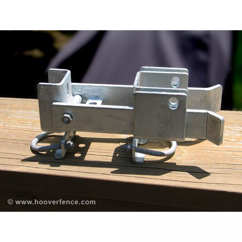 "Fulcrum Style Chain Link Fence Double Gate Latch - Fits 1-5/8 & 2"" Industrial Chain Link Gate Frames"