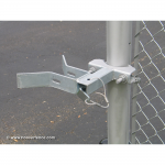 Chain Link Fence Slide Gate Receiver Type Latches - Round Post (CL-SLIDE-GATE-LATCH-R)