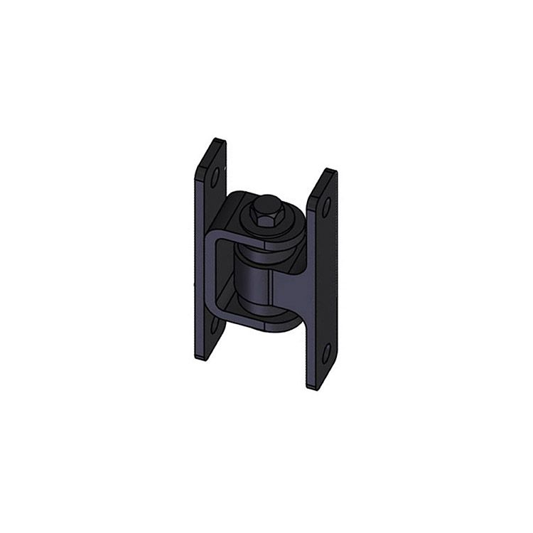 Nationwide Industries HD Bearing Hinge - Body Alum., Bolt-on, Black - Yoke Steel, Bolt-on, Black - Each
