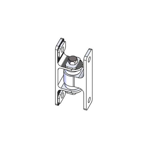Nationwide Industries HD Bearing Hinge - Body Alum., Bolt-on, Mill - Yoke Alum. Bolt-on, Mill - Each