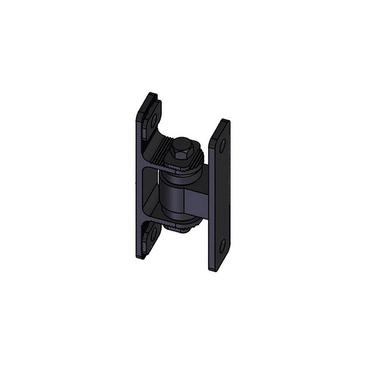 Nationwide Industries HD Bearing Hinge - Body Steel Bolt-on, Black - Yoke Alum. Bolt-on, Black - Each