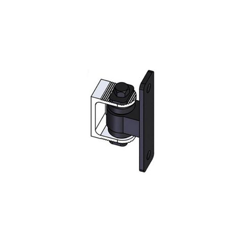 Nationwide Industries HD Bearing Hinge - Body Steel Bolt-on, Black - Yoke Alum. Weld-on, Mill - Each