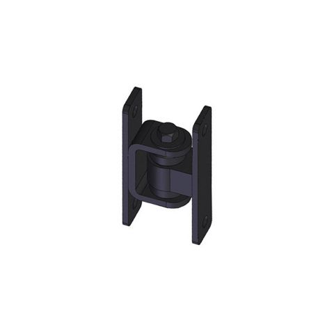 Nationwide Industries HD Bearing Hinge - Body Steel Bolt-on, Black - Yoke Steel Bolt-on, Black - Each