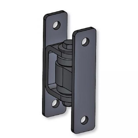 Nationwide Industries Heavy Duty Ball Bearing Hinge - Steel Bolt-On Black Body & Steel Bolt-On Black Yoke