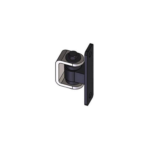Nationwide Industries HD Bearing Hinge - Body Steel Bolt-on, Black - Yoke Steel Weld-on, Mill - Each