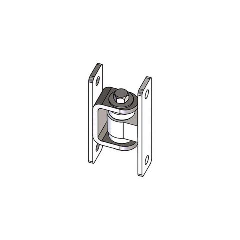 Nationwide Industries HD Bearing Hinge - Body Steel Bolt-on, Mill - Yoke Steel Bolt-on, Mill - Each